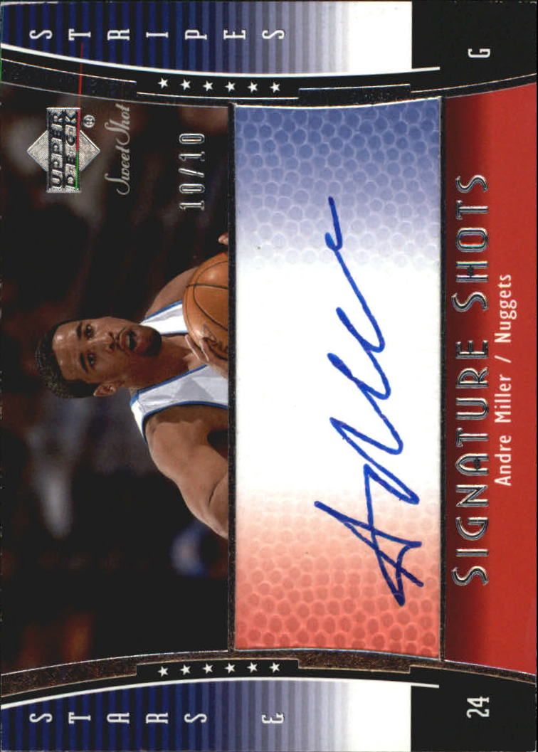 2004-05 Sweet Shot Signature Shots Stars and Stripes #AN Andre Miller