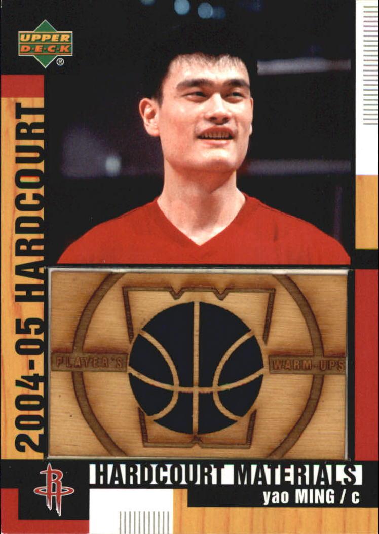 2004-05 Upper Deck Hardcourt Materials Combo #YM Yao Ming