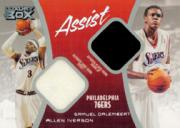 2004-05 Topps Luxury Box Assist Dual Relics #ASID Allen Iverson/Samuel Dalembert