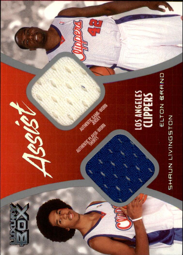 2004-05 Topps Luxury Box Assist Dual Relics #ASLB Shaun Livingston/Elton Brand