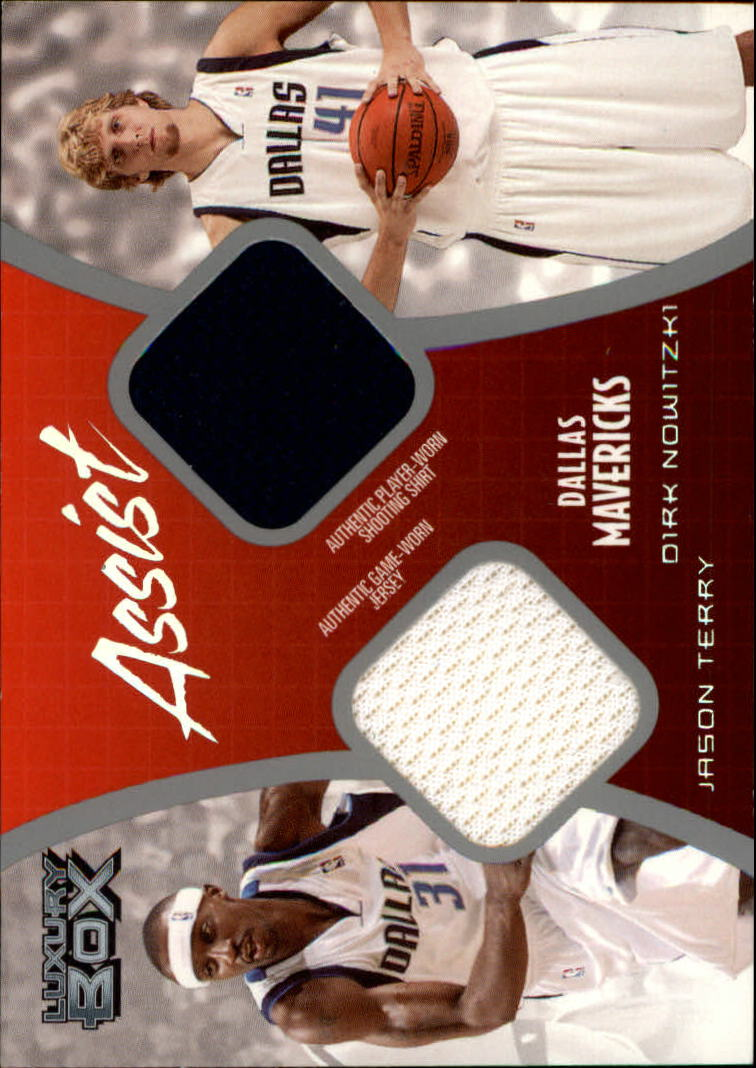 2004-05 Topps Luxury Box Assist Dual Relics #ASTN Jason Terry/Dirk Nowitzki
