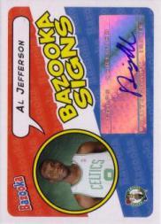2004-05 Bazooka Signs #AJ Al Jefferson B