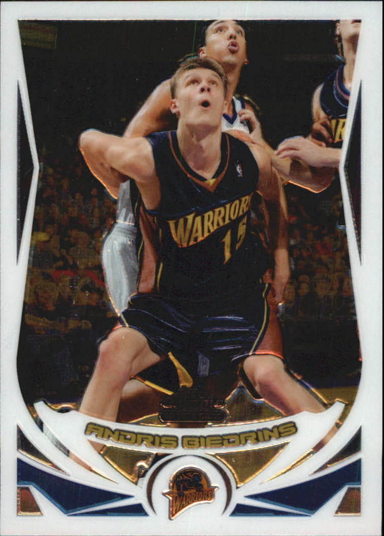 2004-05 Topps Chrome #176 Andris Biedrins RC