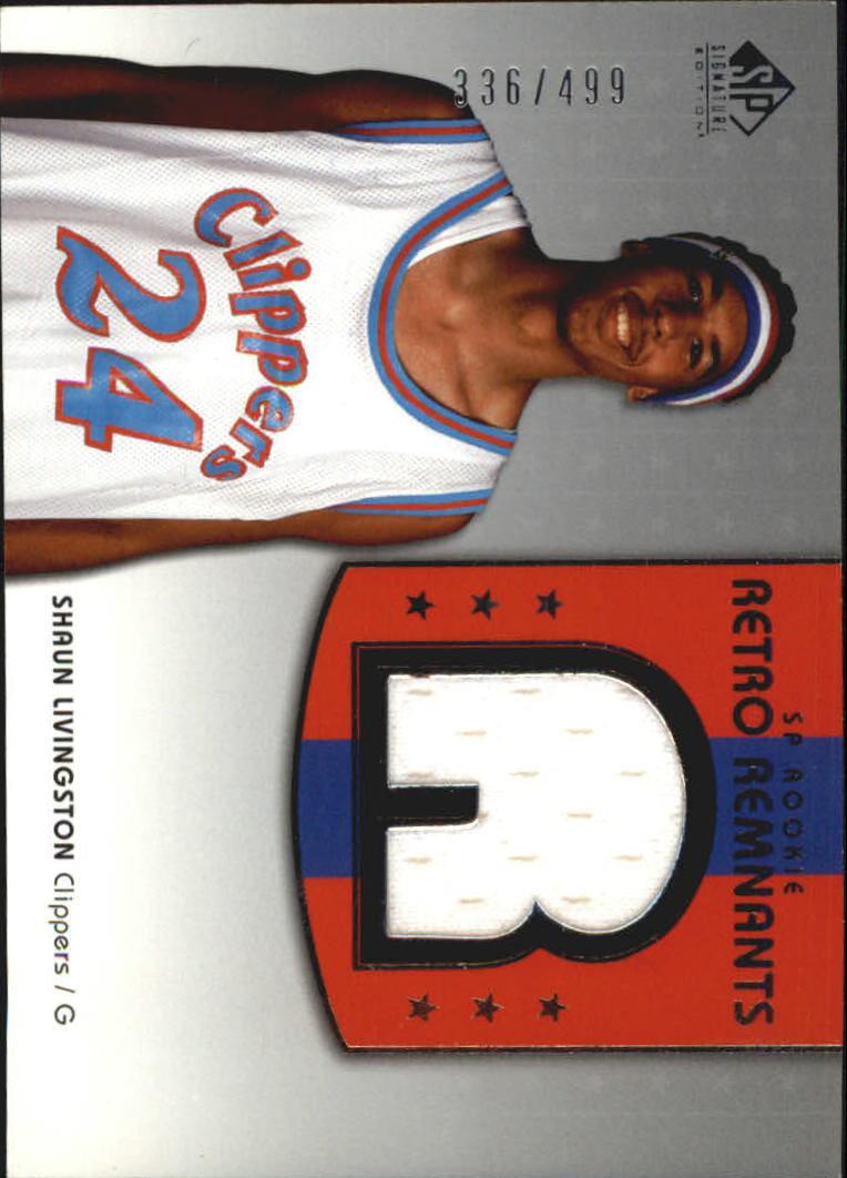 2004-05 SP Signature Edition #103 Shaun Livingston JSY RC