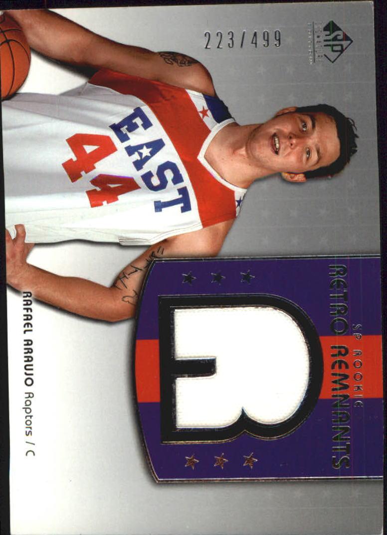 2004-05 SP Signature Edition #107 Rafael Araujo JSY RC