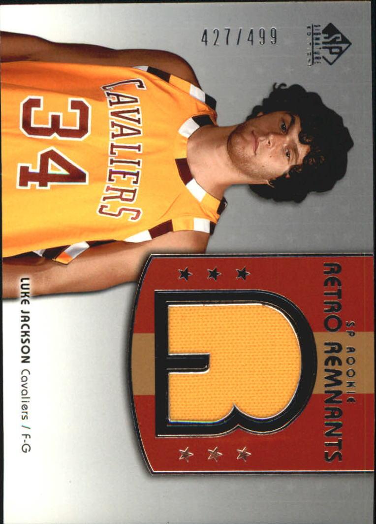 2004-05 SP Signature Edition #109 Luke Jackson JSY RC
