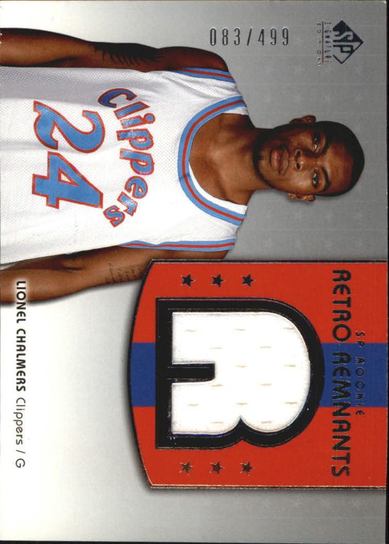 2004-05 SP Signature Edition #124 Lionel Chalmers JSY RC