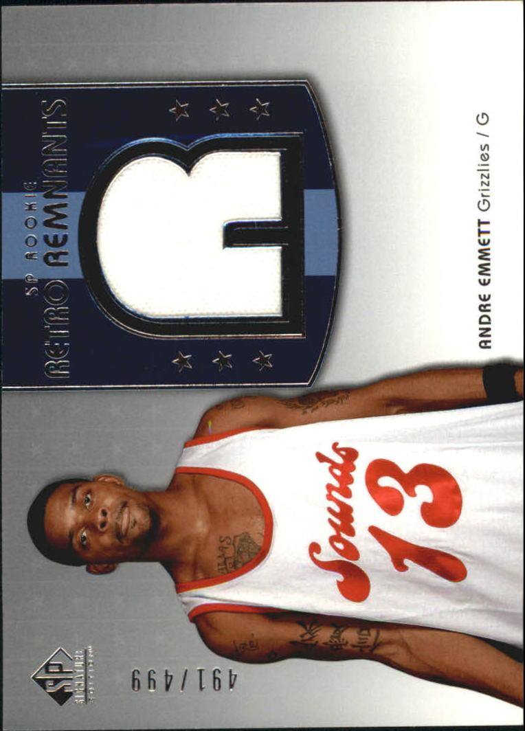 2004-05 SP Signature Edition #125 Andre Emmett JSY RC