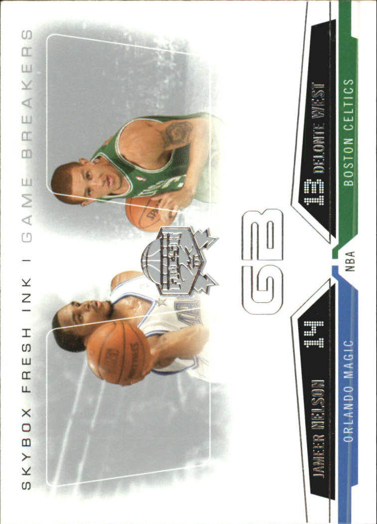 2004-05 SkyBox Fresh Ink Game Breakers #15 Delonte West/Jameer Nelson