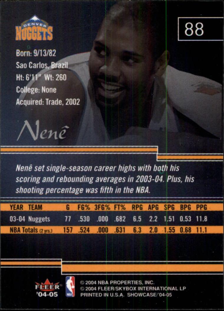 2004-05 Fleer Showcase #88 Nene back image