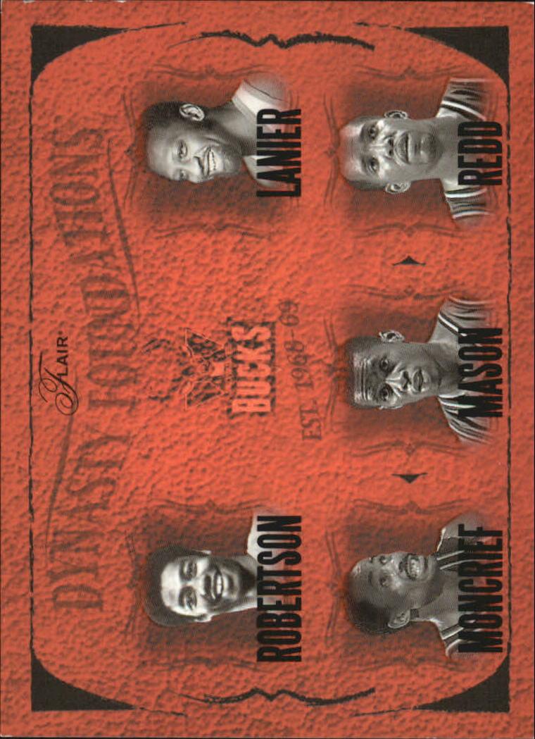 2004-05 Flair Dynasty Foundations #8 Oscar Robertson/Bob Lanier/Sidney Moncrief/Desmond Mason/Michael Redd