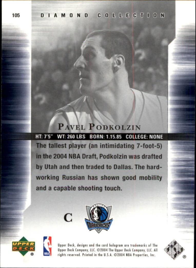 2004-05 Upper Deck All-Star Lineup #105 Pavel Podkolzin RC back image