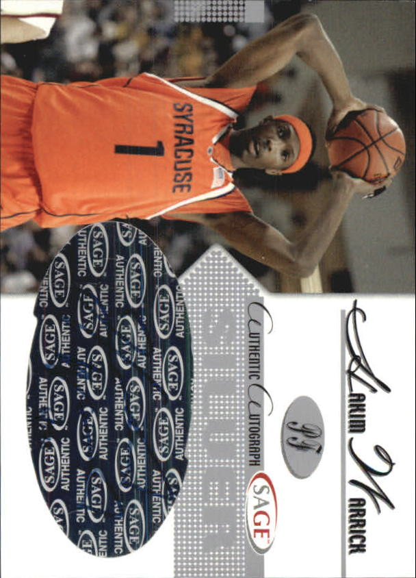 2005 SAGE Autographs Silver #A25 Hakim Warrick/130