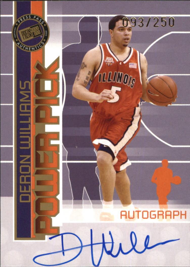 2005 Press Pass Power Pick Autographs #DW Deron Williams