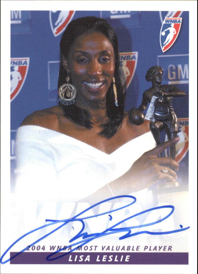 2005 WNBA Autographs #LL2 Lisa Leslie Black