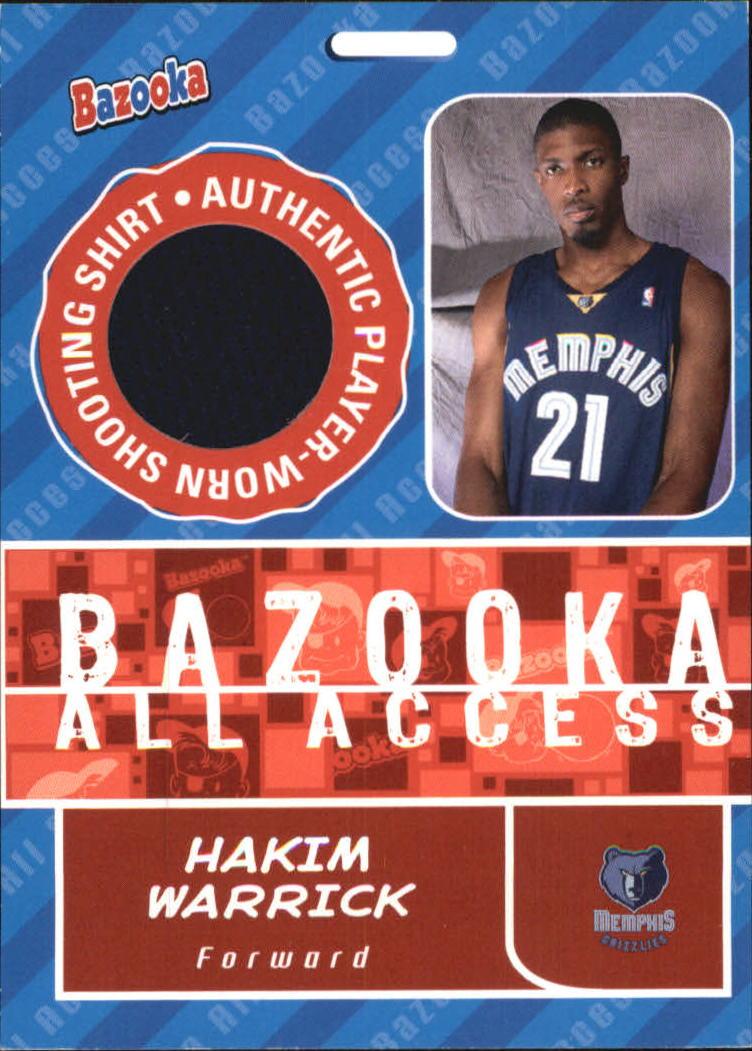2005-06 Bazooka All-Access Relics #HW Hakim Warrick