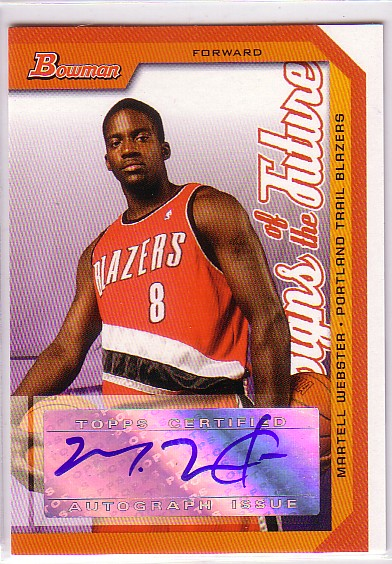 2005-06 Bowman Signs of the Future #MW Martell Webster