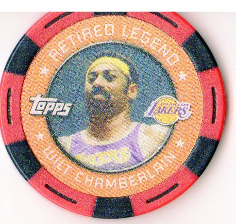 2005-06 Topps NBA Collector Chips Red #2 Wilt Chamberlain