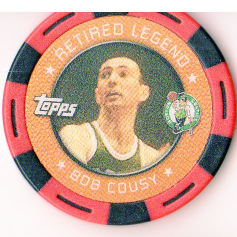 2005-06 Topps NBA Collector Chips Red #3 Bob Cousy