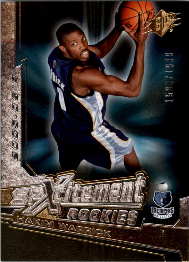 2005-06 SPx SPxcitement Rookies #XCR4 Hakim Warrick