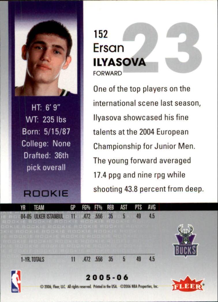 2005-06 Hoops #152 Ersan Ilyasova RC back image