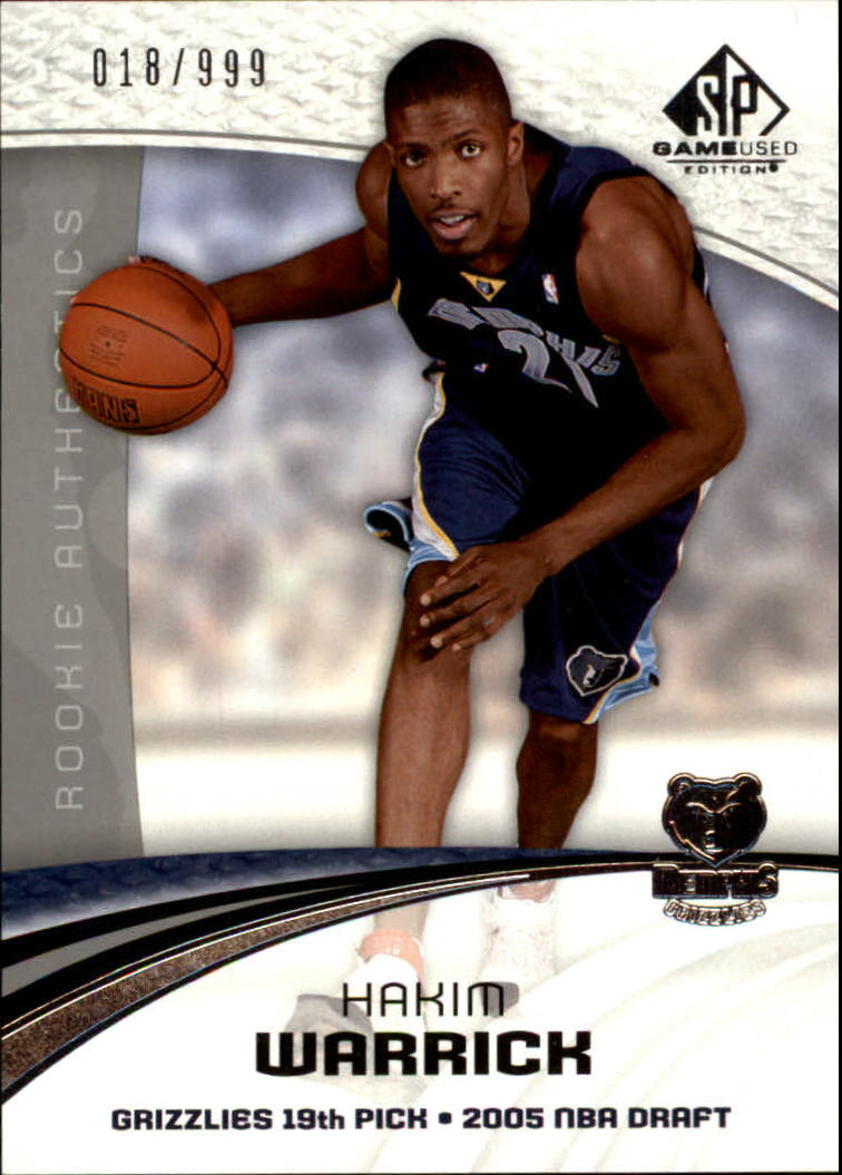 2005-06 SP Game Used #142 Hakim Warrick RC