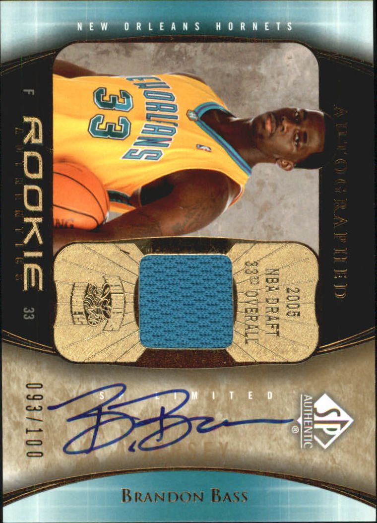 2005-06 SP Authentic Limited Extra Rookie Autographs #99 Brandon Bass JSY