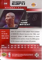 2005-06 Upper Deck ESPN #38 Kobe Bryant back image