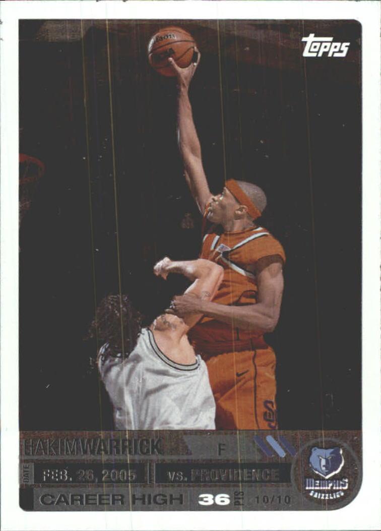 2005-06 Topps Big Game #115 Hakim Warrick RC