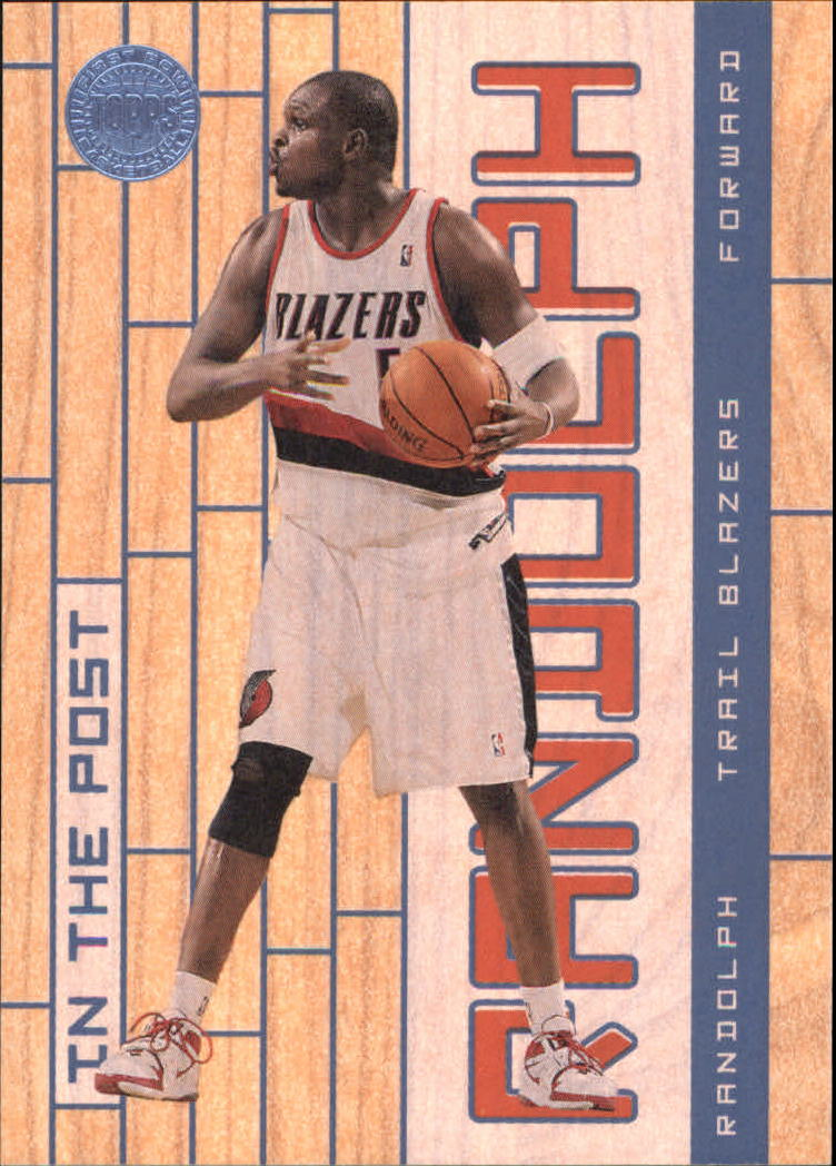 2005-06 Topps First Row In The Post #21 Zach Randolph