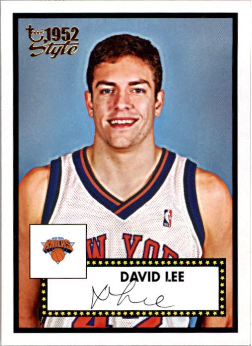 2005-06 Topps Style #153 David Lee RC