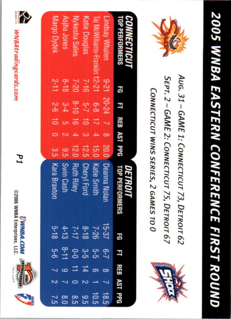 2006 WNBA Playoffs #P1 Eastern Semi-Finals back image