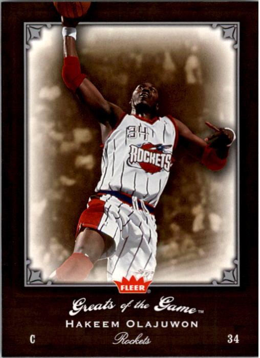 2005-06 Greats of the Game #47 Hakeem Olajuwon