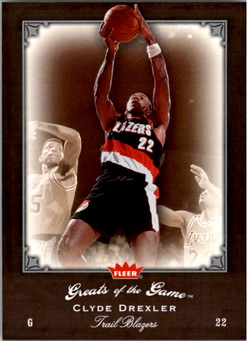2005-06 Greats of the Game #50 Clyde Drexler