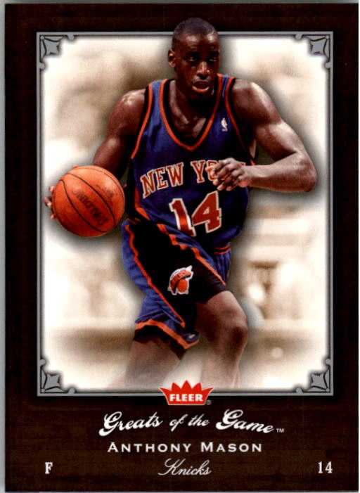 2005-06 Greats of the Game #51 Anthony Mason