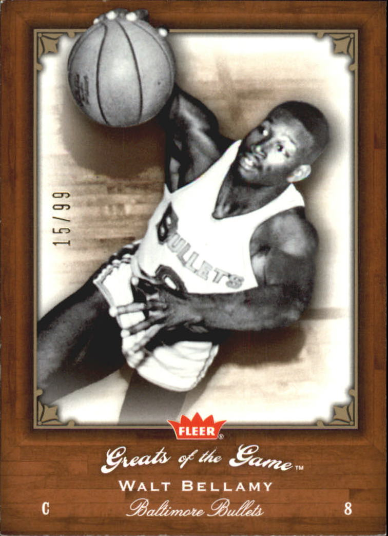 2005-06 Greats of the Game Gold #84 Walt Bellamy
