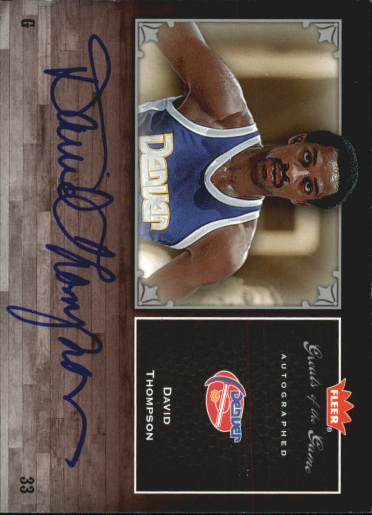 2005-06 Greats of the Game Autographs #GGDT David Thompson