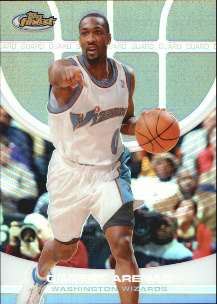 2005-06 Finest Refractors Wizards Basketball Card  95 Gilbert Arenas  349 4a4b85187