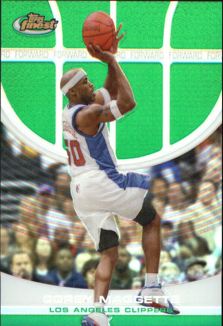 2005-06 Finest Refractors Green #9 Corey Maggette