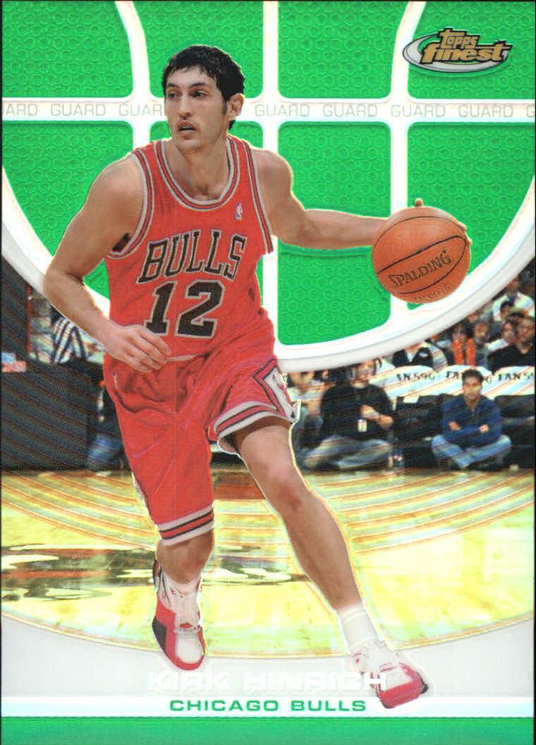 2005-06 Finest Refractors Green #18 Kirk Hinrich