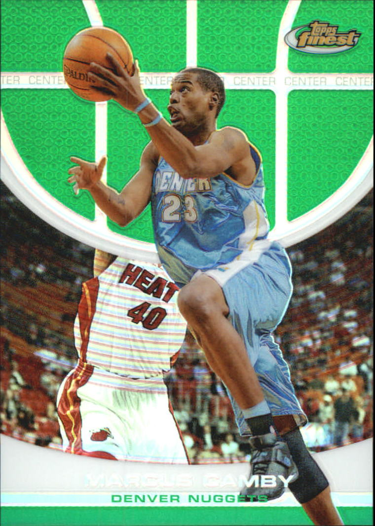 2005-06 Finest Refractors Green #62 Marcus Camby