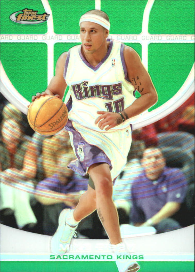 2005-06 Finest Refractors Green #92 Mike Bibby