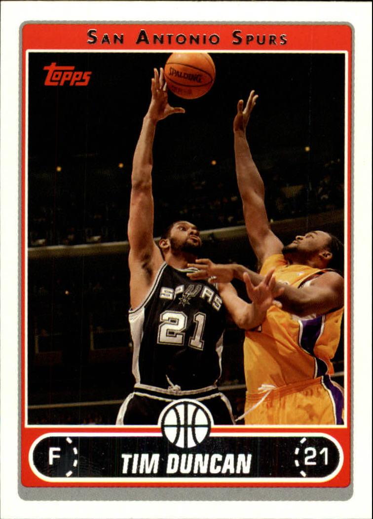 2006-07 Topps #2 Tim Duncan