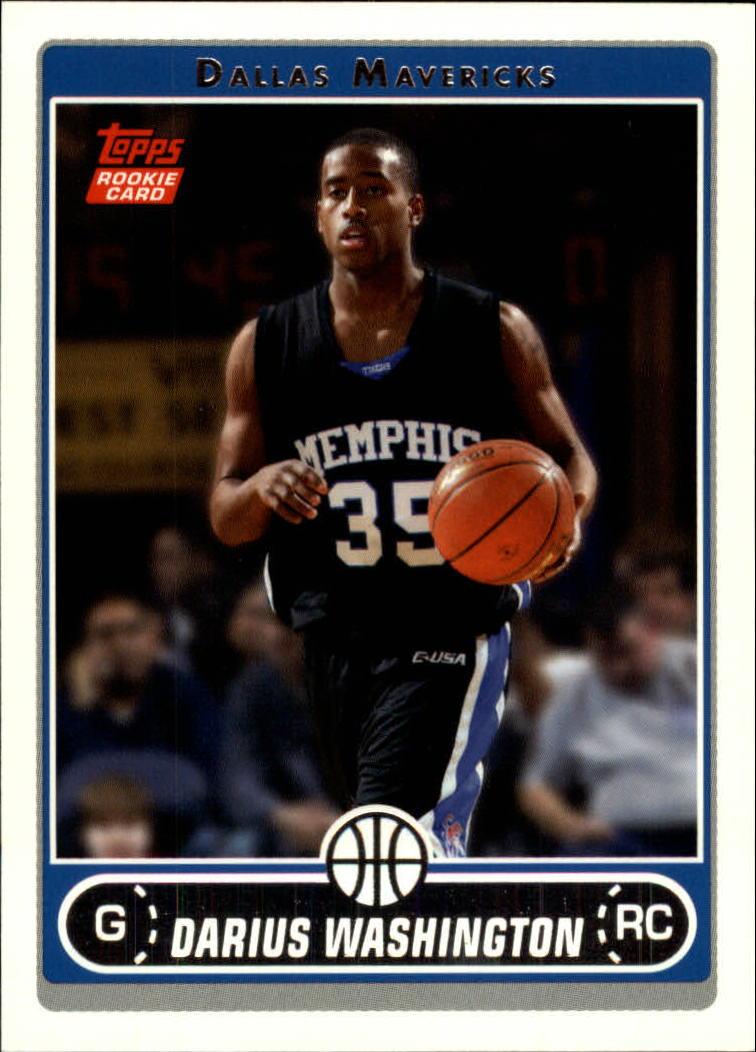 2006-07 Topps #258 Darius Washington RC