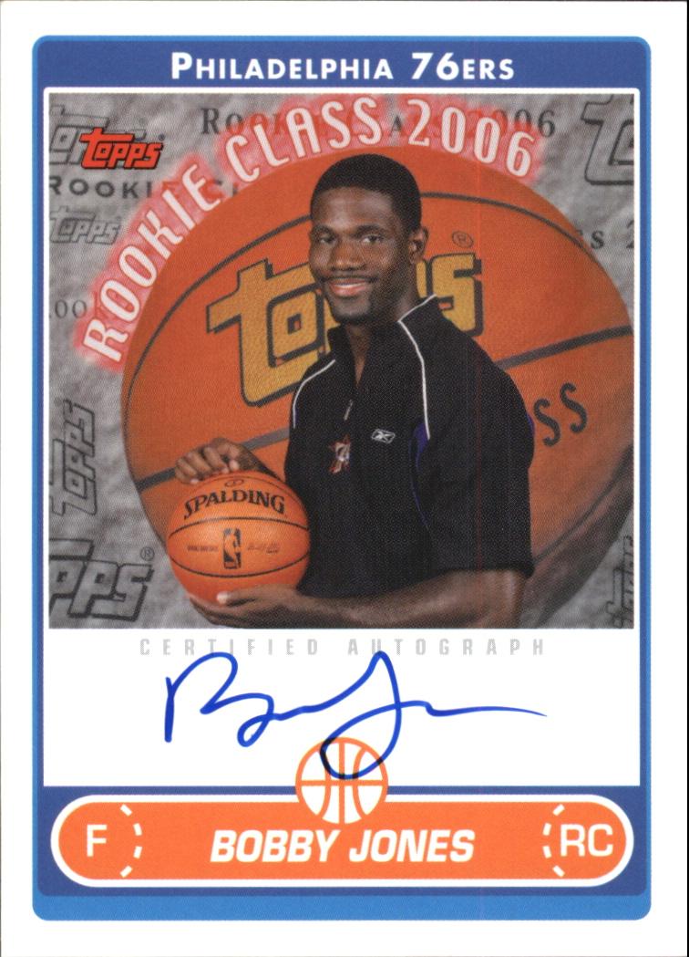 2006-07 Topps Rookie Photo Shoot Autographs #BJ Bobby Jones