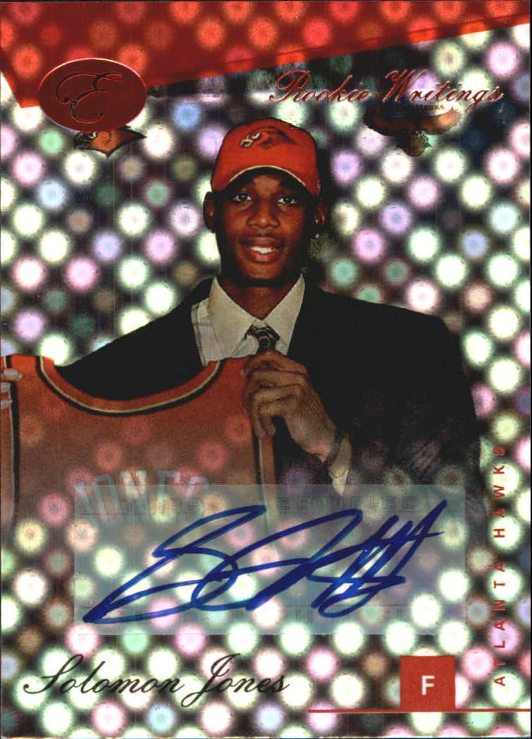2006-07 Bowman Elevation Rookie Writing Autographs Red #SJ Solomon Jones/89