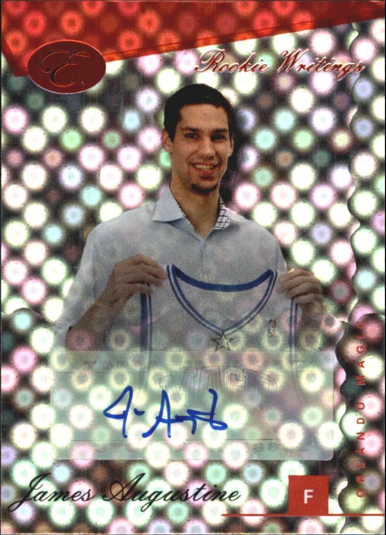 2006-07 Bowman Elevation Rookie Writing Autographs Red #JA James Augustine/89
