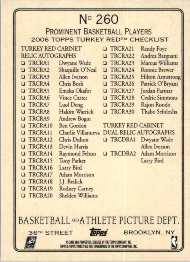 2006-07 Topps Turkey Red #260 Steve Nash/Kurt Thomas CL back image