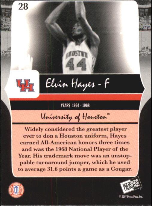 2006-07 Press Pass Legends #28 Elvin Hayes back image