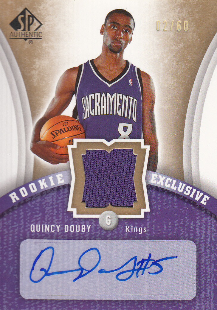 2006-07 SP Authentic Rookie Exclusives Jerseys Autographs #QD Quincy Douby